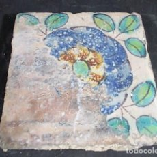 Antigüedades: ANTIGUO AZULEJO VALENCIANO DEL XVII . Lote 86090812