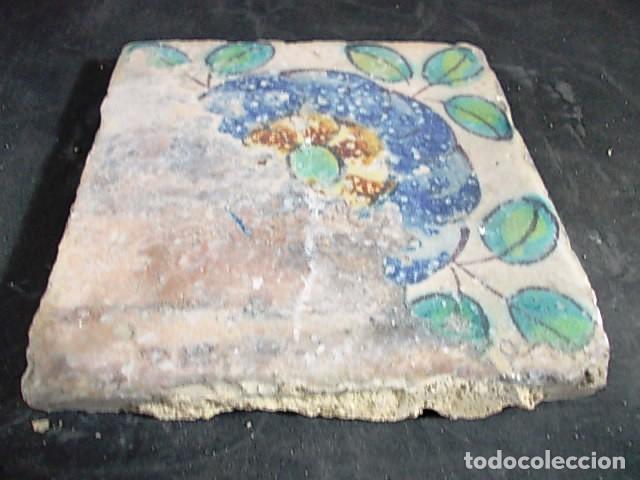 Antigüedades: ANTIGUO AZULEJO VALENCIANO DEL XVII - Foto 2 - 86090812