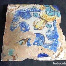 Antigüedades: ANTIGUO AZULEJO VALENCIANO DEL XVII-XVIII . Lote 86091016