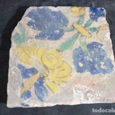 Antigüedades: 29-ANTIGUO AZULEJO DEL XVII-XVIII CON UNAS MEDIDAS DE 11,5 X 11,5 X 1,5 CM. Lote 86091548