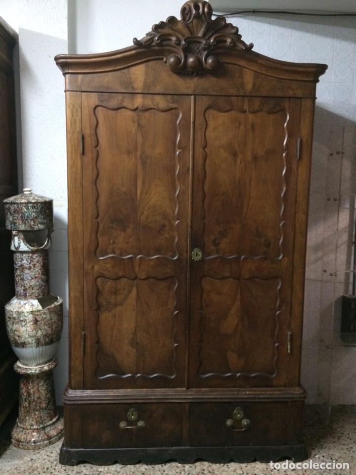 Antigüedades: Antiguo armario de raíz de nogal - Foto 2 - 86106735