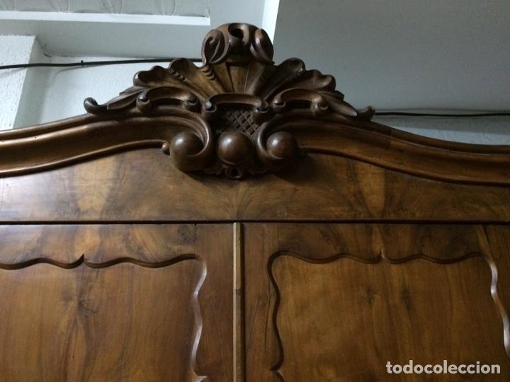 Antigüedades: Antiguo armario de raíz de nogal - Foto 3 - 86106735