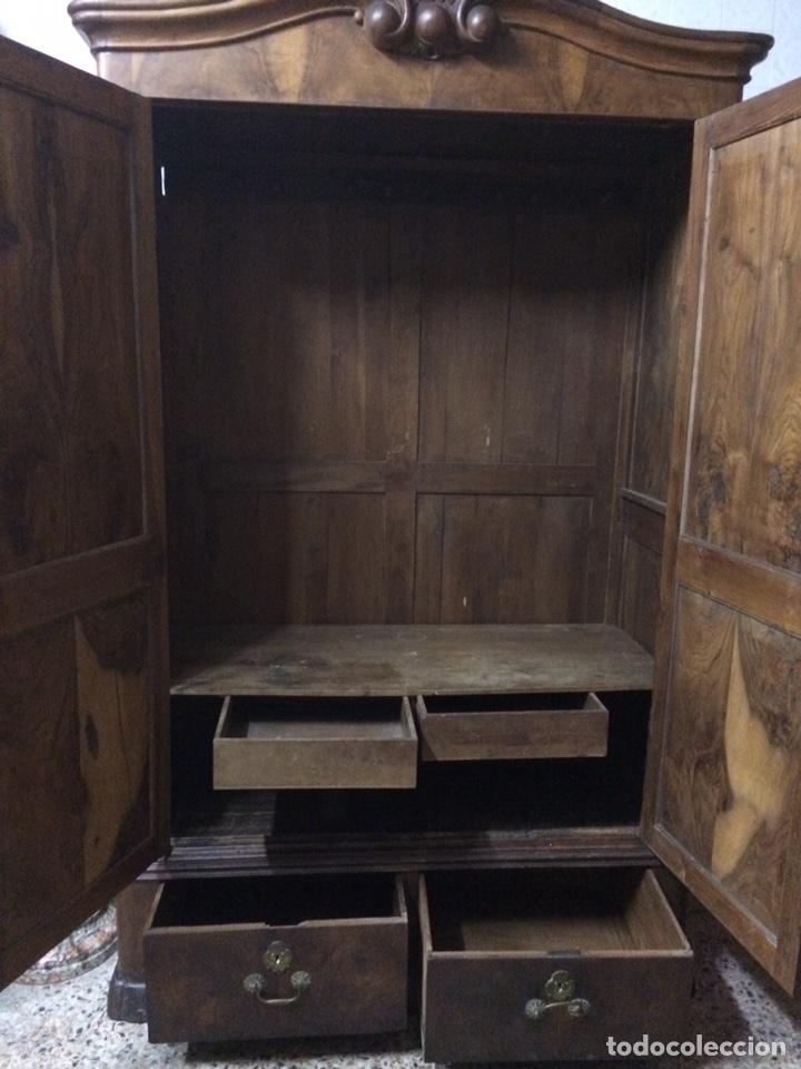 Antigüedades: Antiguo armario de raíz de nogal - Foto 16 - 86106735
