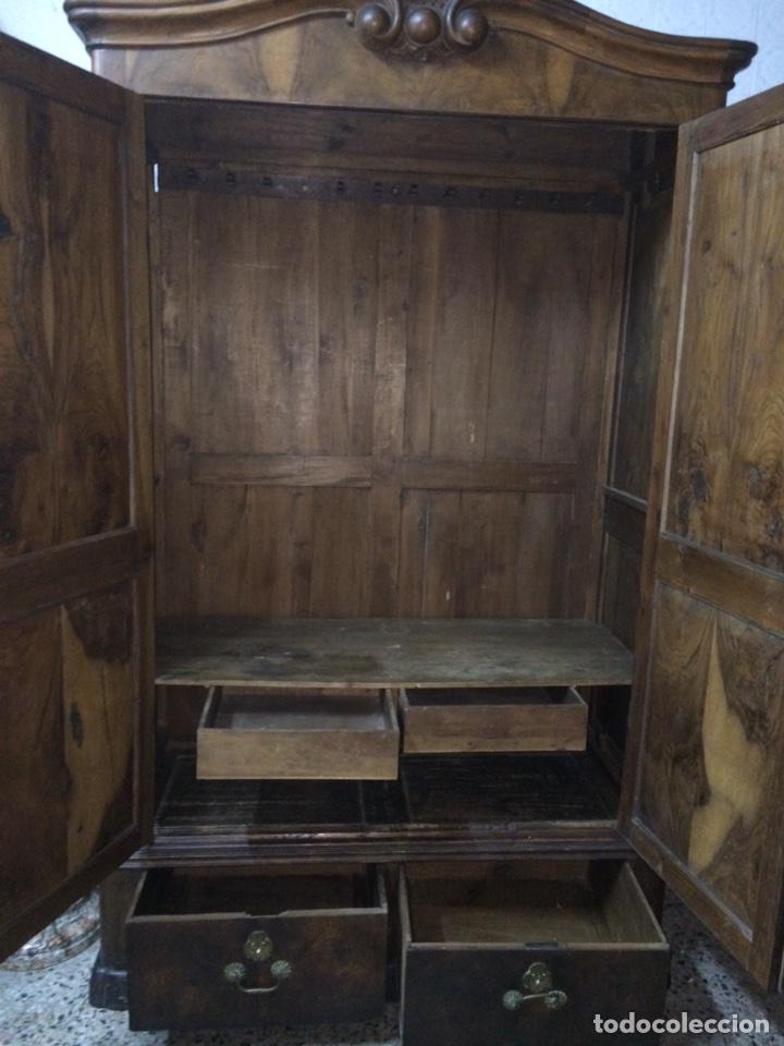 Antigüedades: Antiguo armario de raíz de nogal - Foto 17 - 86106735