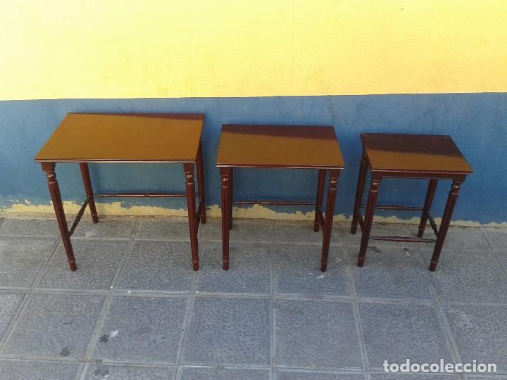 Tres Mesitas Auxiliares Antiguas Mesas Nido Retro Vintage Mueble Mesa Auxiliar Antigua