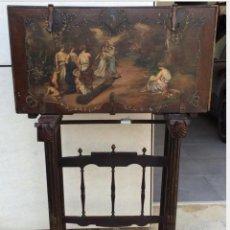 Antigüedades: ORIGINAL BARGUEÑO CON PINTURA EN LA TAPA. Lote 86143580