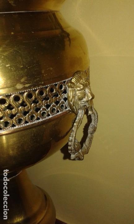 Antigüedades: Copa- macetero de latón - Foto 2 - 86176352