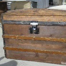Antigüedades: PRECIOSO BAÚL DE MADERA Y METAL. . Lote 86176396