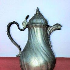 Antigüedades: CAFETERA. ESTAÑO O PELTRE. ESTILO BARROCO INGLÉS. INGLATERRA(?) XIX-XX. Lote 86123432