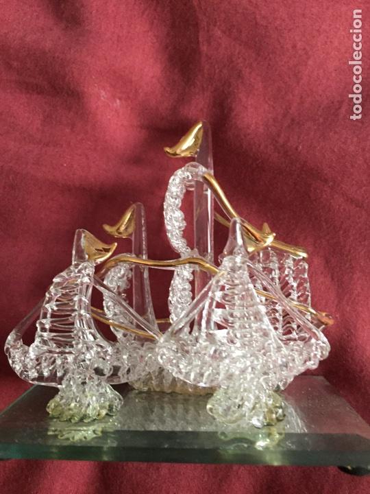 Antigüedades: Barco de cristal - Foto 2 - 86198780