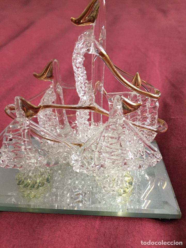 Antigüedades: Barco de cristal - Foto 3 - 86198780