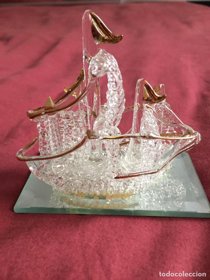 Antigüedades: Barco de cristal - Foto 5 - 86198780