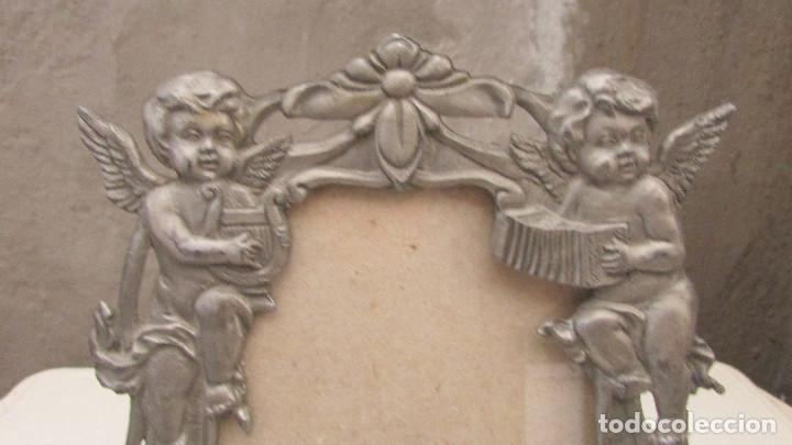 Antigüedades: MARCO PORTAFOTOS PLATEADO - Foto 2 - 86216220