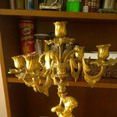 Antigüedades: CANDELABROS DE BRONCE. Lote 86217712