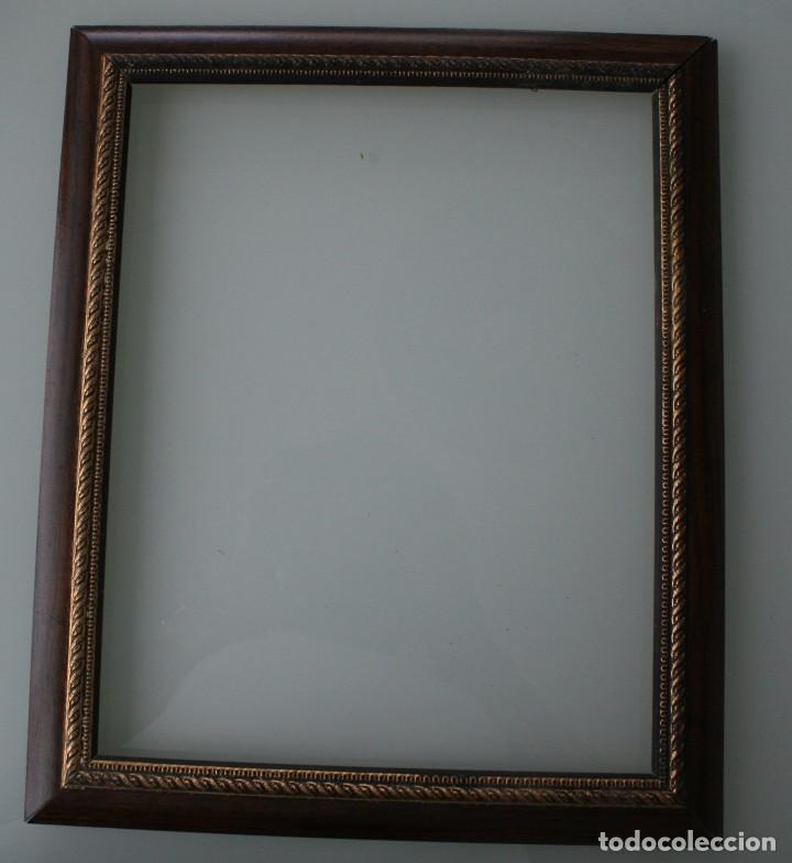 marco de madera en color marron y dorado para f - Comprar Marcos ...