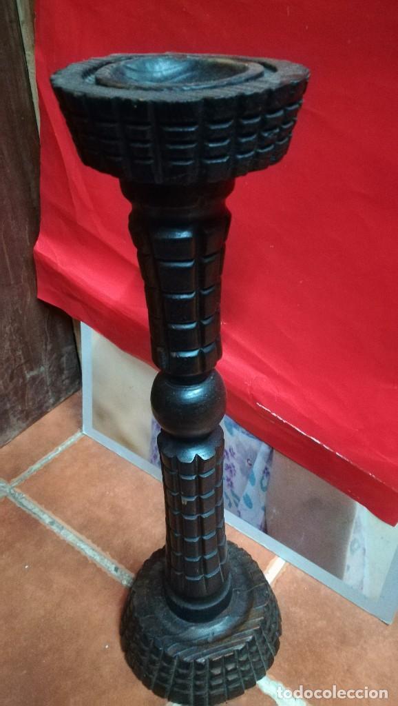 CENICERO DE MADERA MIDE 52 X 16 . (Antigüedades - Hogar y Decoración - Ceniceros Antiguos)