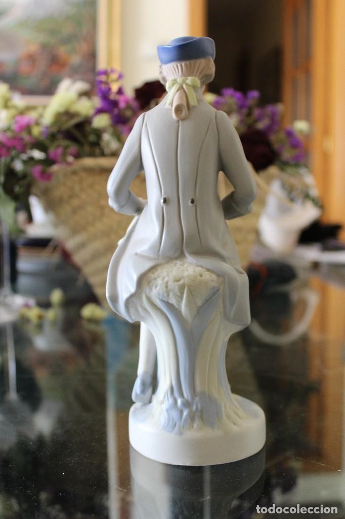 Antigüedades: Antigua Figura porcelana mujer con perro Pales - Foto 3 - 86269700