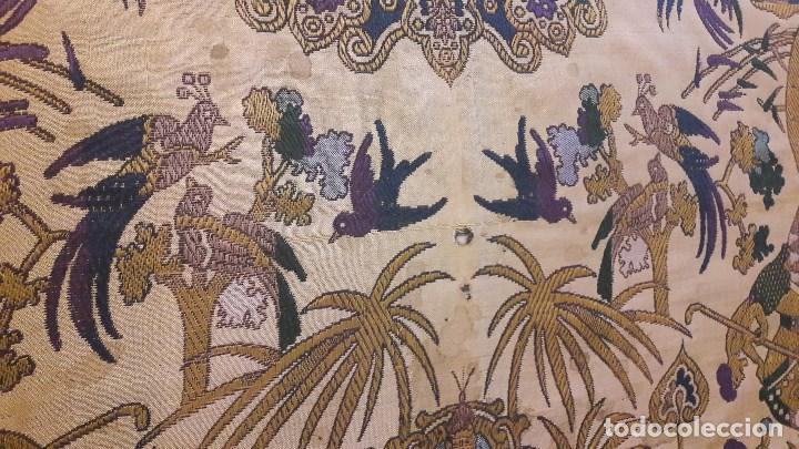 Antigüedades: Colcha antigua de seda - Foto 5 - 86272548