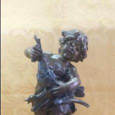 Antigüedades: NIÑO CON PATO. Lote 86278340