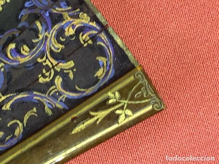 Antigüedades: ABANICO. VARILLAJE EN CAREY O ASTA. TELA PINTADA. ESPAÑA. FIN SIGLO XIX - Foto 5 - 86283000