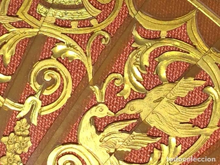 Antigüedades: ABANICO. VARILLAJE EN CAREY O ASTA. TELA PINTADA. ESPAÑA. FIN SIGLO XIX - Foto 6 - 86283000
