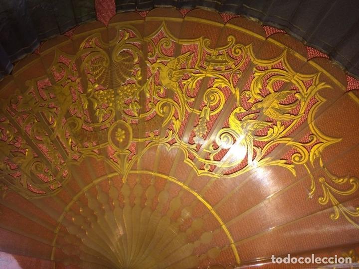 Antigüedades: ABANICO. VARILLAJE EN CAREY O ASTA. TELA PINTADA. ESPAÑA. FIN SIGLO XIX - Foto 16 - 86283000