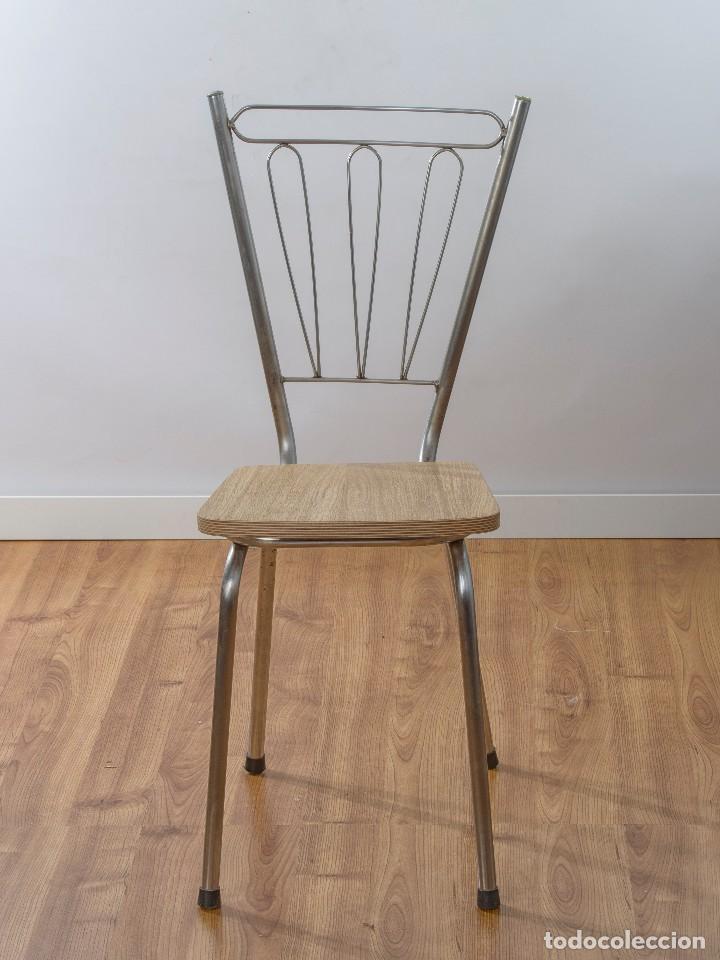 silla de cocina de los años 60 restaurada con t - Comprar Sillas ...