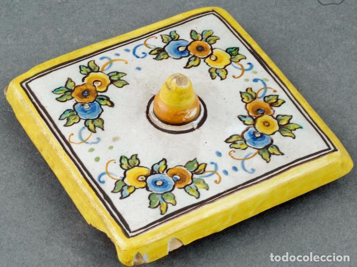 Antigüedades: Tintero con tapa cerámica Talavera Ruiz de Luna S XX - Foto 6 - 86286444