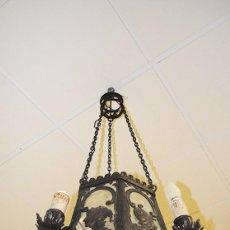 Antigüedades: FAROL DE TECHO ANTIGUO DE FORJA. Lote 86296412