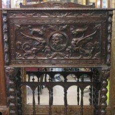 Antigüedades: ANTIGUO Y BONITO BARGUEÑO DE ROBLE DE ESTILO RENACIMIENTO. PPIOS. SIGLO XX. Lote 86312180