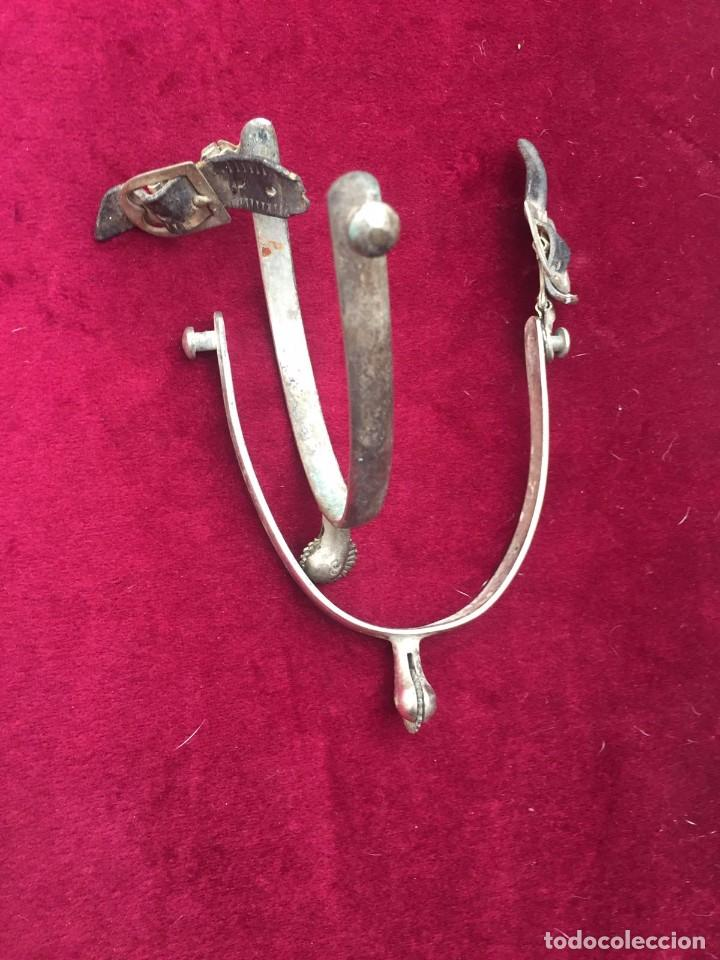 Antigüedades: Espuelas antiguas de hierro - Foto 2 - 86317932