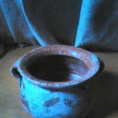 Antigüedades: ANTIGUO CUENCO O CACEROLA,DE CERÁMICA? CON SELLO GRABADO DESCONOZCO, VER FOTOS. Lote 86324376