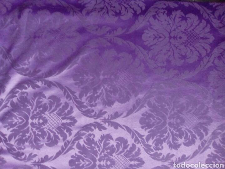 tela de damasco color morado, 2,37 de largo por - Comprar ...