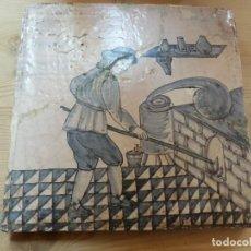Antigüedades: BALDOSA CATALANA OFICIOS. Lote 86332812