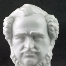 Antiquitäten - Busto porcelana Herend-Hungría de Esteban Szechenyi siglo XIX - 86344932