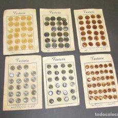 Antigüedades: BOTONES ANTIGUOS - CARTONES DE BOTONES - LOTE DE BOTONES PEQUEÑOS. Lote 86348464