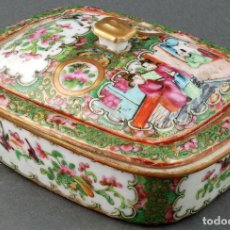 Antiquités: JABONERA PORCELANA CANTÓN CHINA S XIX. Lote 86351104