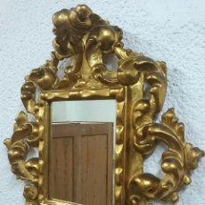 Antigüedades: ESPECTACULAR CORNUCOPIA, ESPEJO DORADO AL ORO FINO EN MADERA. SIGLO XIX. PERFECTA.. Lote 86392200