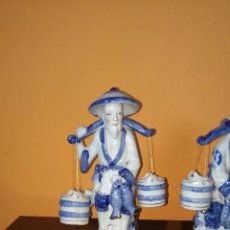 Antigüedades: PRECIOSAS FIGURAS CHINAS DE PESCADORES CHINOS.. Lote 86399846