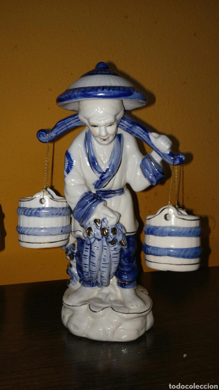 Antigüedades: Preciosas figuras chinas de pescadores chinos. - Foto 3 - 86399846
