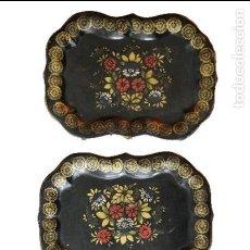 Antigüedades: BANDEJAS ISABELINAS, PRECIOSAS MUY BIEN CONSERVADAS.. Lote 198428025
