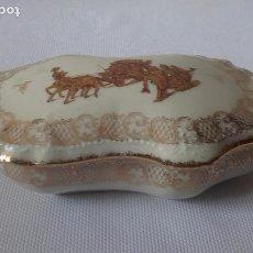 Antigüedades: CAJA DE PORCELANA DE LIMOGES (18 CM). Lote 86407244
