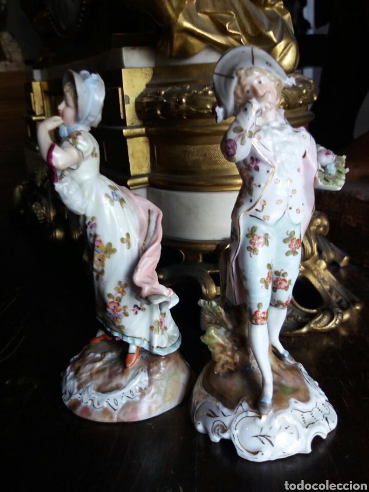 Antigüedades: PRECIOSA PAREJA DE PORCELANA FRANCESA - Foto 7 - 86413840