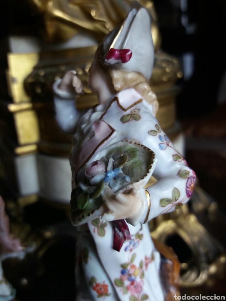 Antigüedades: PRECIOSA PAREJA DE PORCELANA FRANCESA - Foto 11 - 86413840