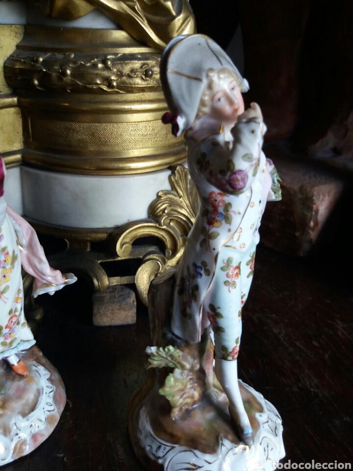 Antigüedades: PRECIOSA PAREJA DE PORCELANA FRANCESA - Foto 12 - 86413840