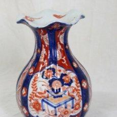 Antigüedades: ANTIGUO FLORERO DE PORCELANA JAPONESA IMARI. Lote 86414208