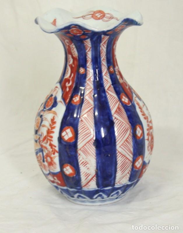 Antigüedades: ANTIGUO FLORERO DE PORCELANA JAPONESA IMARI - Foto 2 - 86414208