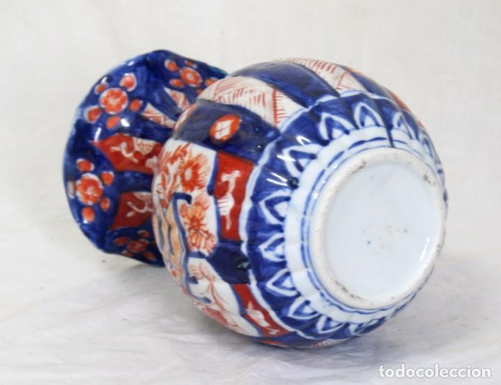 Antigüedades: ANTIGUO FLORERO DE PORCELANA JAPONESA IMARI - Foto 3 - 86414208
