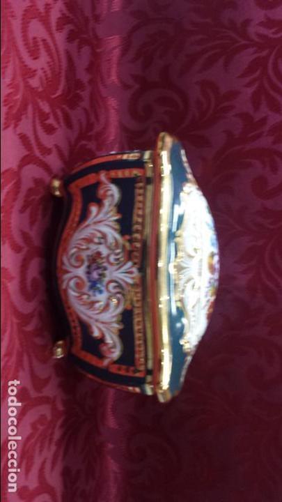 Antigüedades: CAJA JOYERO PORCELANA - Foto 3 - 86422008