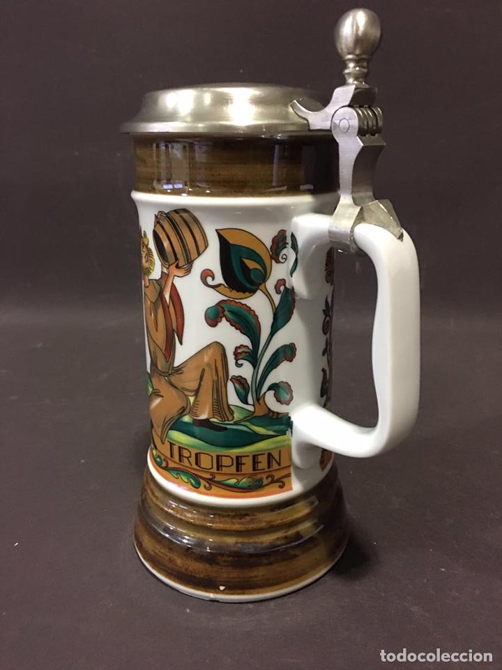 Antigüedades: Jarra de cerveza en porcelana alemana-Bavaria (numerada y sellada) - Foto 4 - 86423336